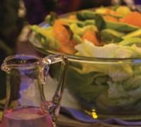 Ensalada de pomelo, aguacate y lechuga