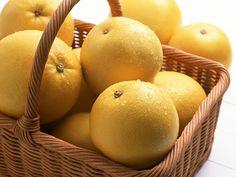 Cesta de pomelos blancos para receta