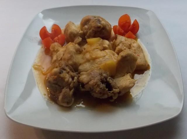 pollo con zumo de pomelo