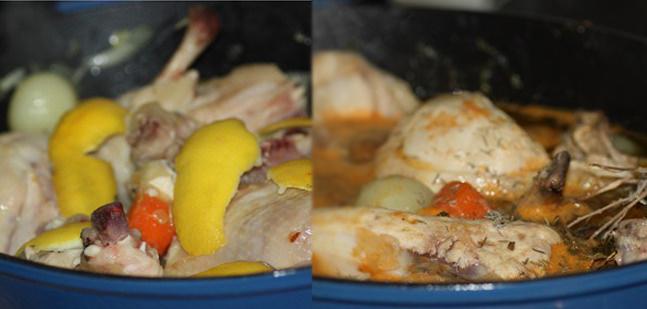 Receta de como hacer un guiso de pollo con zumo de pomelos blancos