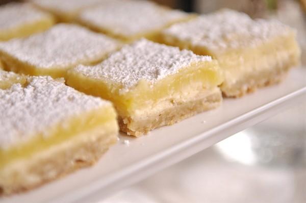 Barras de queso con limon