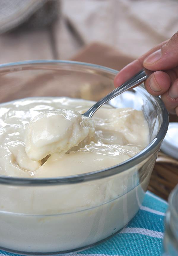 Crema de limon en tarros