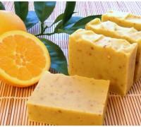 jabón de naranja