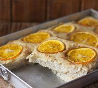 receta focaccia de naranja amarga