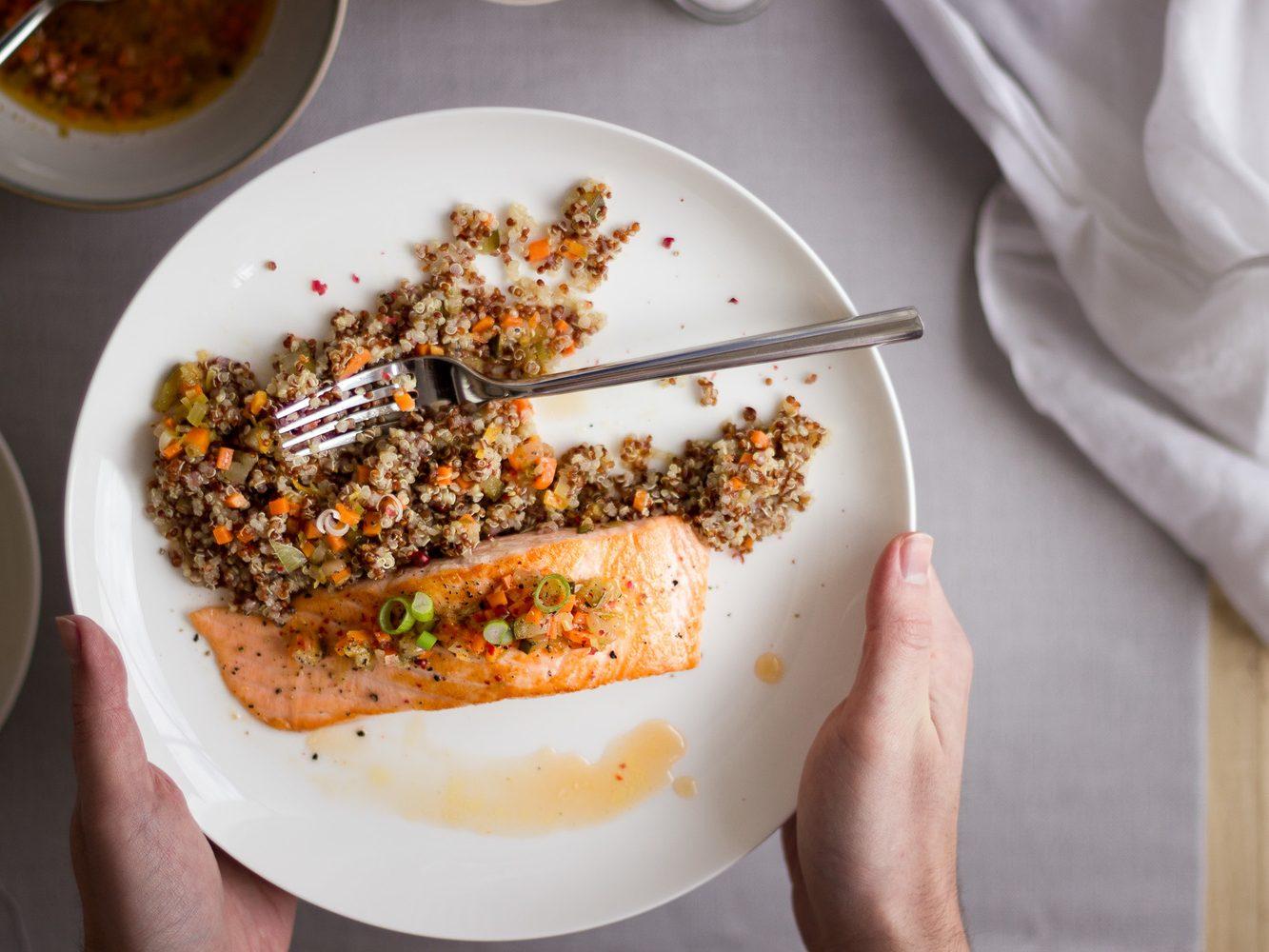 Receta de salmón plato