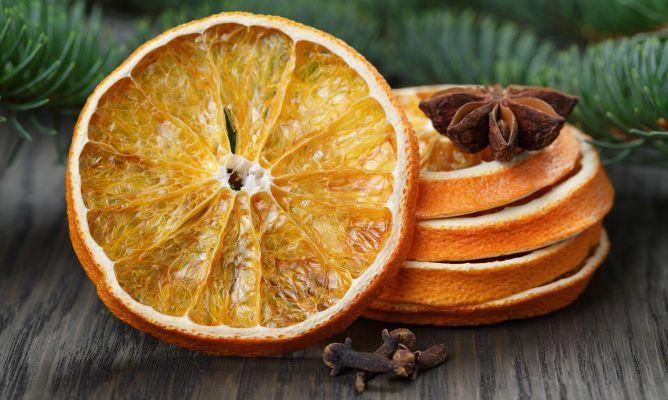 frutas deshidratadas centro de mesa