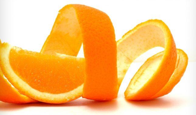 mascarilla facial cáscara de naranja
