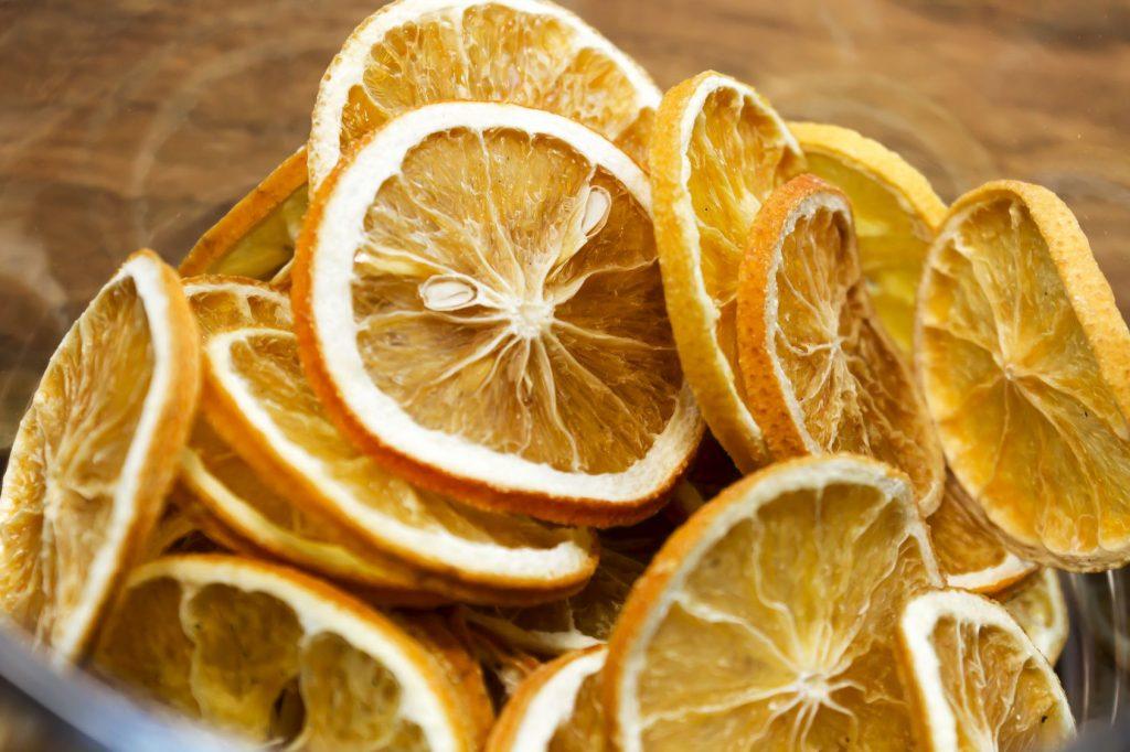 fruta deshidratada naranja