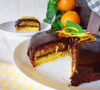 Receta detarta de chocolate con naranja amarga