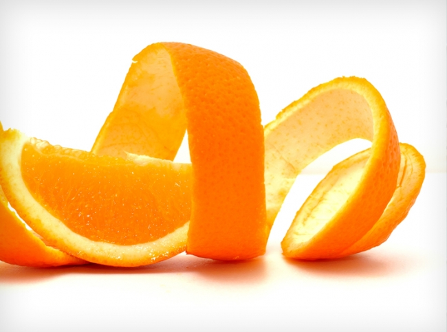 usos de la cáscara de naranja