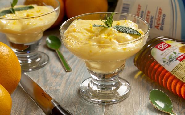 Resultado de crema de naranja amarga con miel.